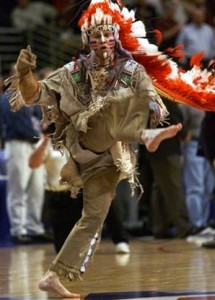 Chief Illiniwek, a modern interpretation of the tribe that once lived in the Chicago area.