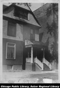 This undated photo from the Sulzer Library's Ravenswood Lake View Historical collection shows the Sandburg home some years ago.