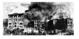 The 1905 Abbott fire was the final straw for neighbors tired of fires and fumes from Abbott Labs.