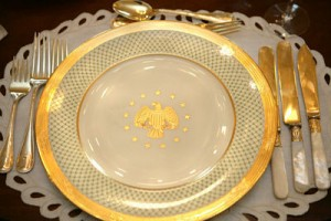 President George W Bush formal china set.
