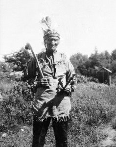 This photo from 1928 is of a Potawatomi Chief named Dick King. Taken on Parry Island, Ontario by Frederick Johnson. Credit: Smithsonian Collections
