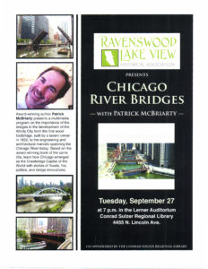 Author talk Chicago River Bridges, September 27